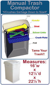 electric trash compactor manual trash compactor from welcome aboard no electricity and it