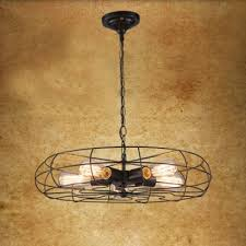 Ceiling Fan With Pendant Light Retro Style 5 Light Ceiling Fan Shape Led Hanging Pendant With