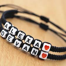 bracelet name beads images Shop friendship bracelets with names on wanelo jpg