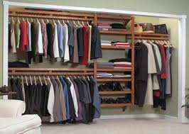 modern dressing room with closet organizer system mahogany solid