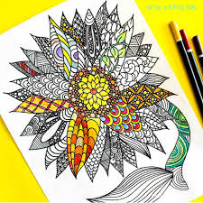 Sunflower Coloring Page Arty Crafty Kids Sunflower Coloring Page