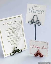 Table Card Holders by Unique Place Cards Martha Stewart Weddings