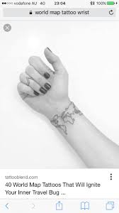 World Map Tattoo 40 Best Tattoo Images On Pinterest Tattoo Designs Mandalas And