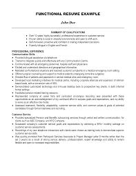 Customer Service Representative Resume No Experience Summary Of Qualifications On Resume Free Resume Templates Resume