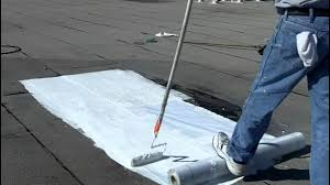 Henry Rubberized Wet Patch by How To Install Elastomeric Roof Coating Flat Roofs Youtube