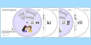 final sound word wheels ss ff ll zz and ck final sound