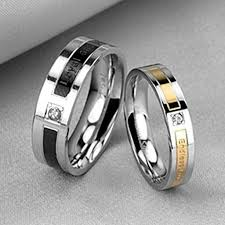 couples rings images Black rose gold engrave love words cz inlay couples rings evermarker jpg