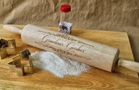 Kitchen Gift Ideas by Personalized Rolling Pin Gifts For Grandma Engraved Wooden
