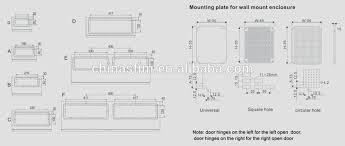 tibox electrical distribution control panel board ip66 wall
