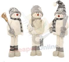 snowman decorations 84cm plush standing snowman christmas decoration in white
