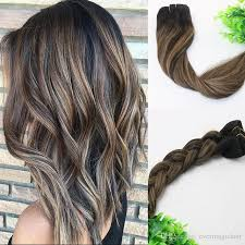 remy hair extensions 8a 120gram clip in human hair extensions balayage ombre brown