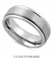 satin finish ring stainless steel satin finish wedding band ring