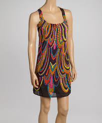 abstract pattern sleeveless dress love this aryeh black orange abstract sleeveless dress by aryeh on