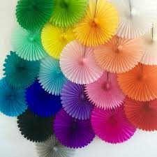 tissue paper fans tissue paper fan wedding decorations birthday party