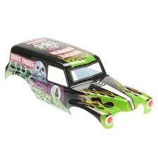 monster trucks grave digger axial grave digger monster truck printed body towerhobbies com