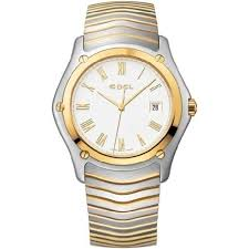 gold bracelet mens watches images Ebel classic white dial stainless steel and gold bracelet men 39 s jpg