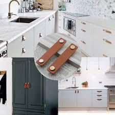 diy knobs on kitchen cabinets modern handmade leather pull handle soft minimalist kitchen cabinet dresser door knobs drawer handles diy furniture hardware