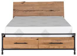 King Platform Bed With Drawers by Karsten Storage Bed Industrial Platform Beds By Scandis