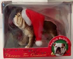 american canine association santa bulldog ornament