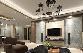 living room design with luxurious ceiling and modern living room