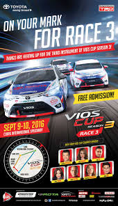 toyota philippines vios toyota vios cup season 3 race 3 toyota motor philippines no 1
