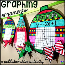 graphing linear equations ornaments by scaffolded math and science