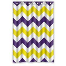 Yellow And Purple Curtains Personalized Bathroom Fashion Purple And Yellow Zigzag