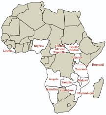 African Countries Map Elca Malaria Campaign Blog Archive Expanding To 13 Countries