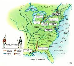 second usa maps of 1812 war in usa second war of independence between