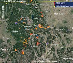 Map Of Idaho And Utah by Dozens Of Wildfires Very Active In Montana And Idaho U2013 Wildfire Today
