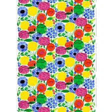 marimekko sitruunapuu multicolor cotton fabric marimekko cotton