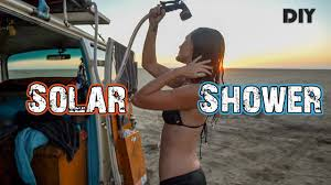how to build a roof top solar shower for your van truck or rv