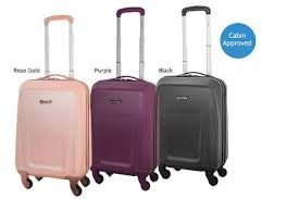 light luggage for international travel premium lightweight 4 wheel hard shell cabin luggage 3 colours