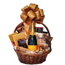 las vegas gift baskets chagne and chocolate wishes gift basket