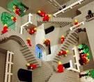 MC Escher's 'Relativity' Created in LEGO - Optical Illusion Image ... eyetricks.com