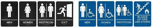 Mens And Womens Bathroom Signs Bathroom Sign Unisex Restroom Sign In Stock Uline
