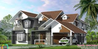 sloping roof ultra modern home kerala home design bloglovin u0027