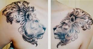 tattoo meaning pride this beautiful tattoo of a lion and lioness incorporates heraldic