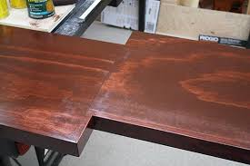 how to stain pine to look like mahogany or brazilian cherry home