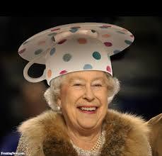 queen elizabeth in teacup hat pictures