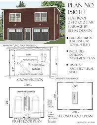garage with loft floor plans 1510 1ft 30 x 26 flat roof 2 story garage behm garage plansbehm