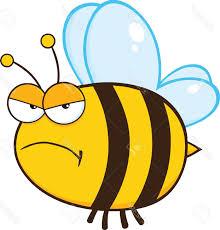 top angry bee cartoon mascot character stock vector cdr