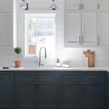 kitchen cabinets white top gray bottom white top cabinets and blue bottom cabinets design ideas