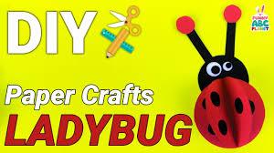 paper ladybug craft for kids youtube
