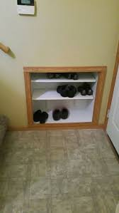 Built In Wall Shelves by Built In Shelves In A Split Level Foyer Found At Http Www