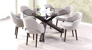 round glass table for 6 glass dining table 6 chairs lesdonheures com