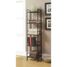 convenience concepts designs2go metal folding 5 shelf bookcase