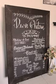 wedding program chalkboard unique wedding program ideas