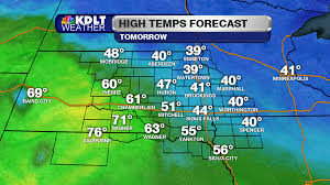 Sioux Falls Map Record Warmth Likely To End This Week Kdlt