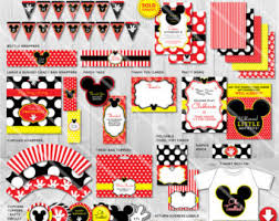 mickey mouse decorations etsy